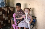 new friends - two cute kids