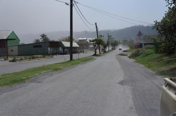 The road from Rabaul Hotel into town
